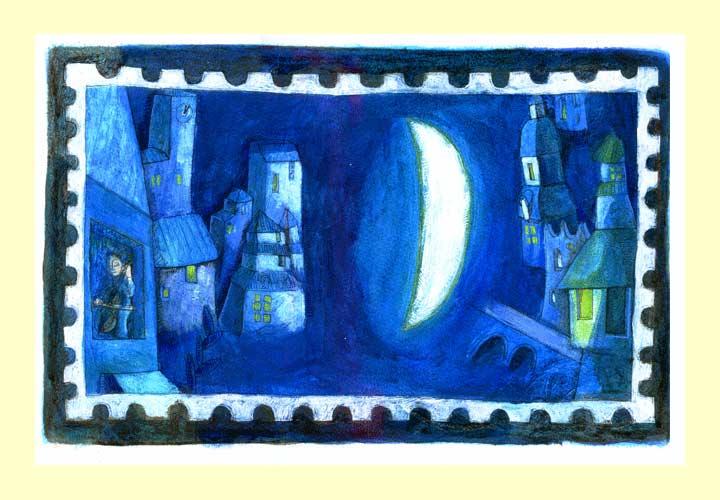 青の記憶風景切手