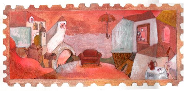 赤い記憶切手