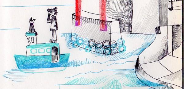 透明風船 3  赤い橋