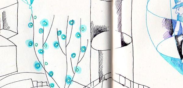 透明風船 5 青いイルミネーションの樹