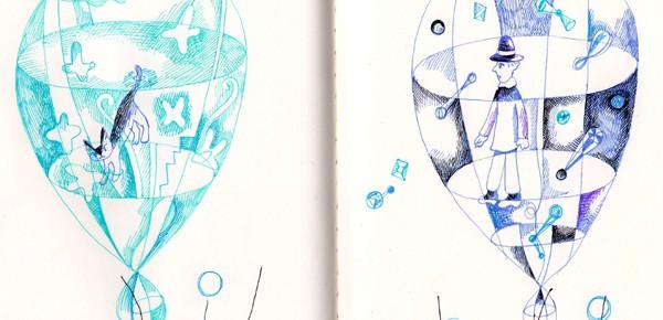 透明風船 6 2つの風船