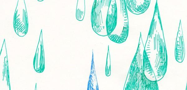 1日1枚絵 雨の夢