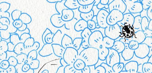 1日1枚絵話 なまいきな雨粒のお話し6