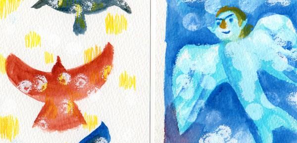 鳥と進化と1日2枚絵